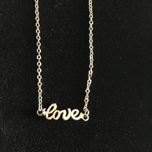 """Love"" Statement Necklace and Earring Set"